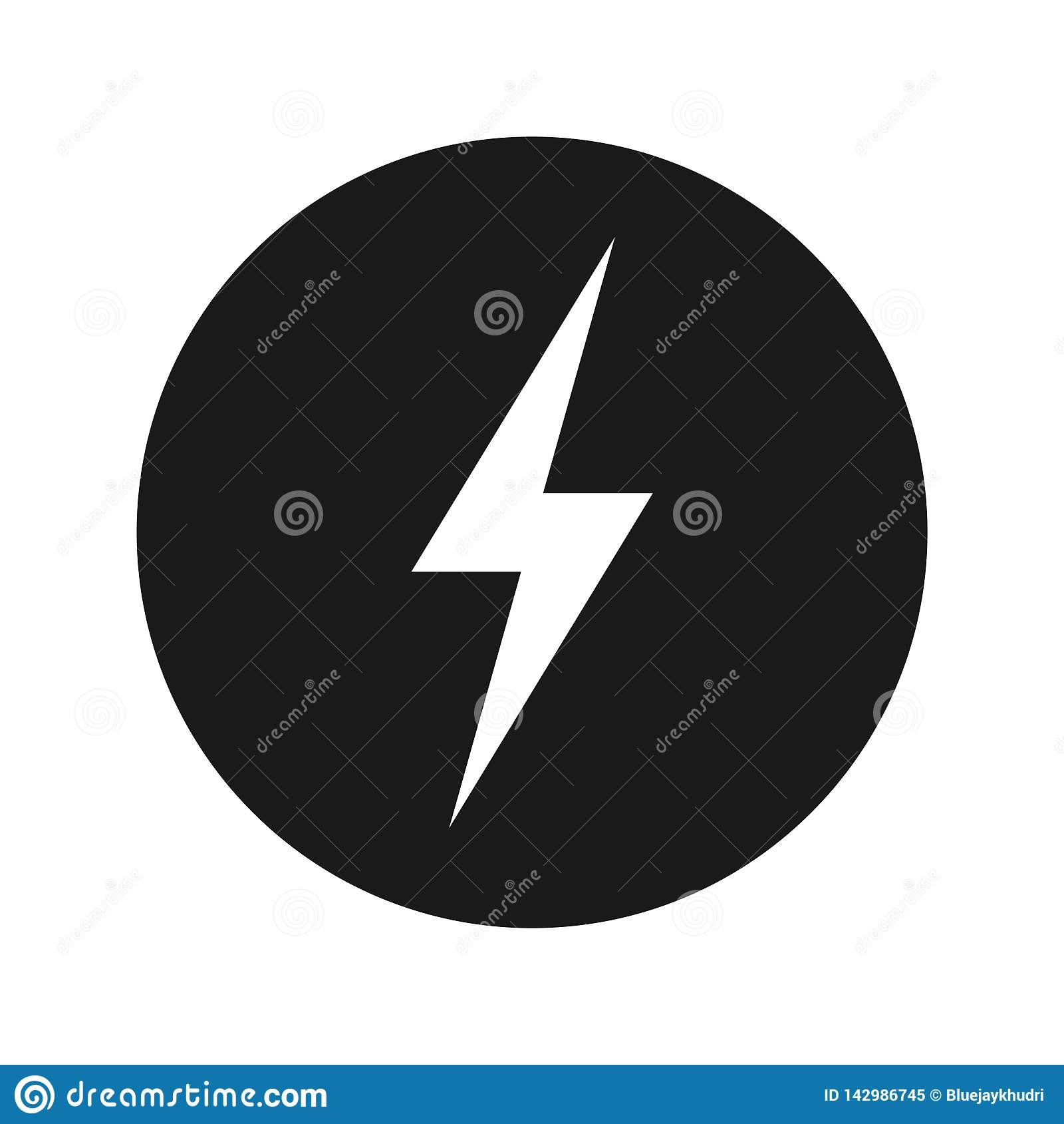 电象浅黑圆的按钮传染媒介例证