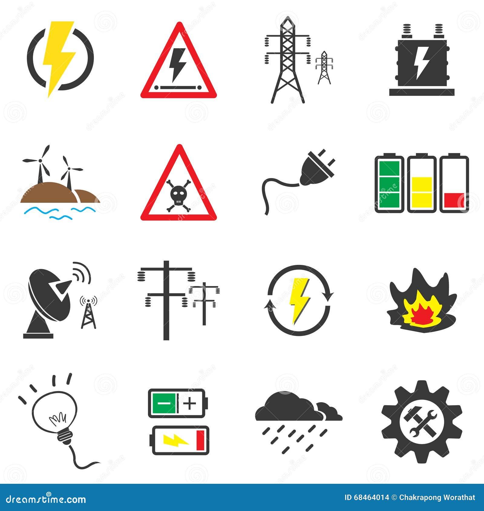 库存例证: 电象集合符号