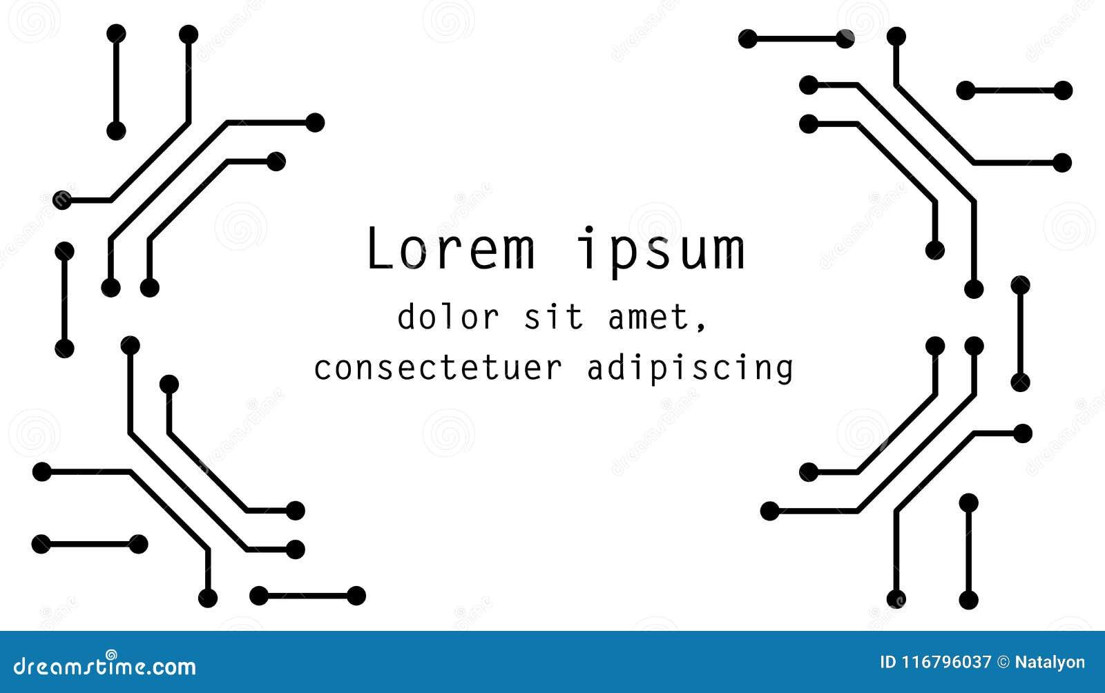 电路板黑白计算机科技海报模板,传染媒介