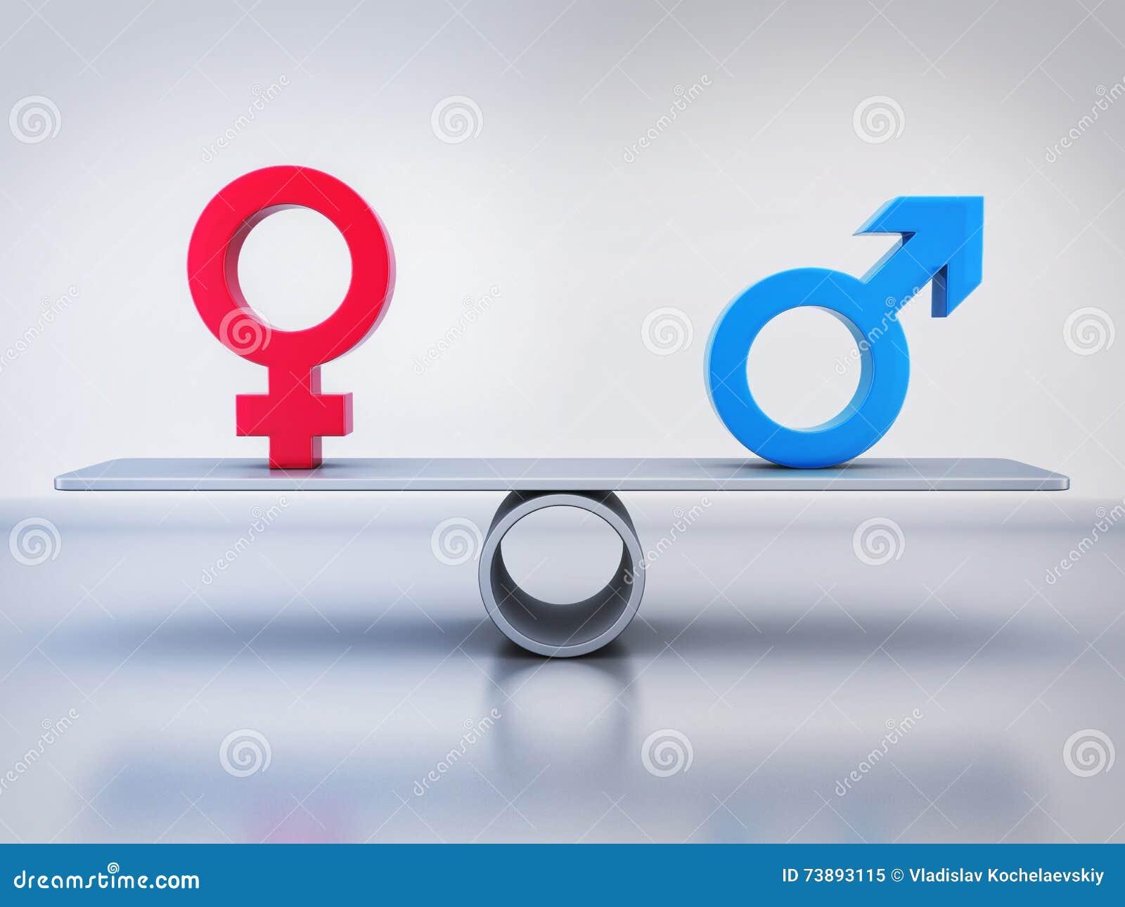 男人和妇女的抽象平等