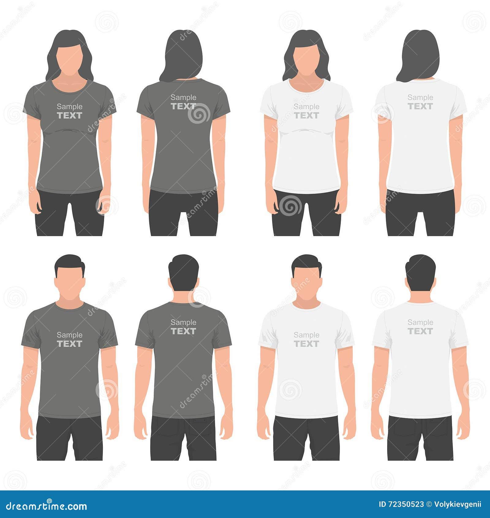 男人和妇女T恤杉设计模板