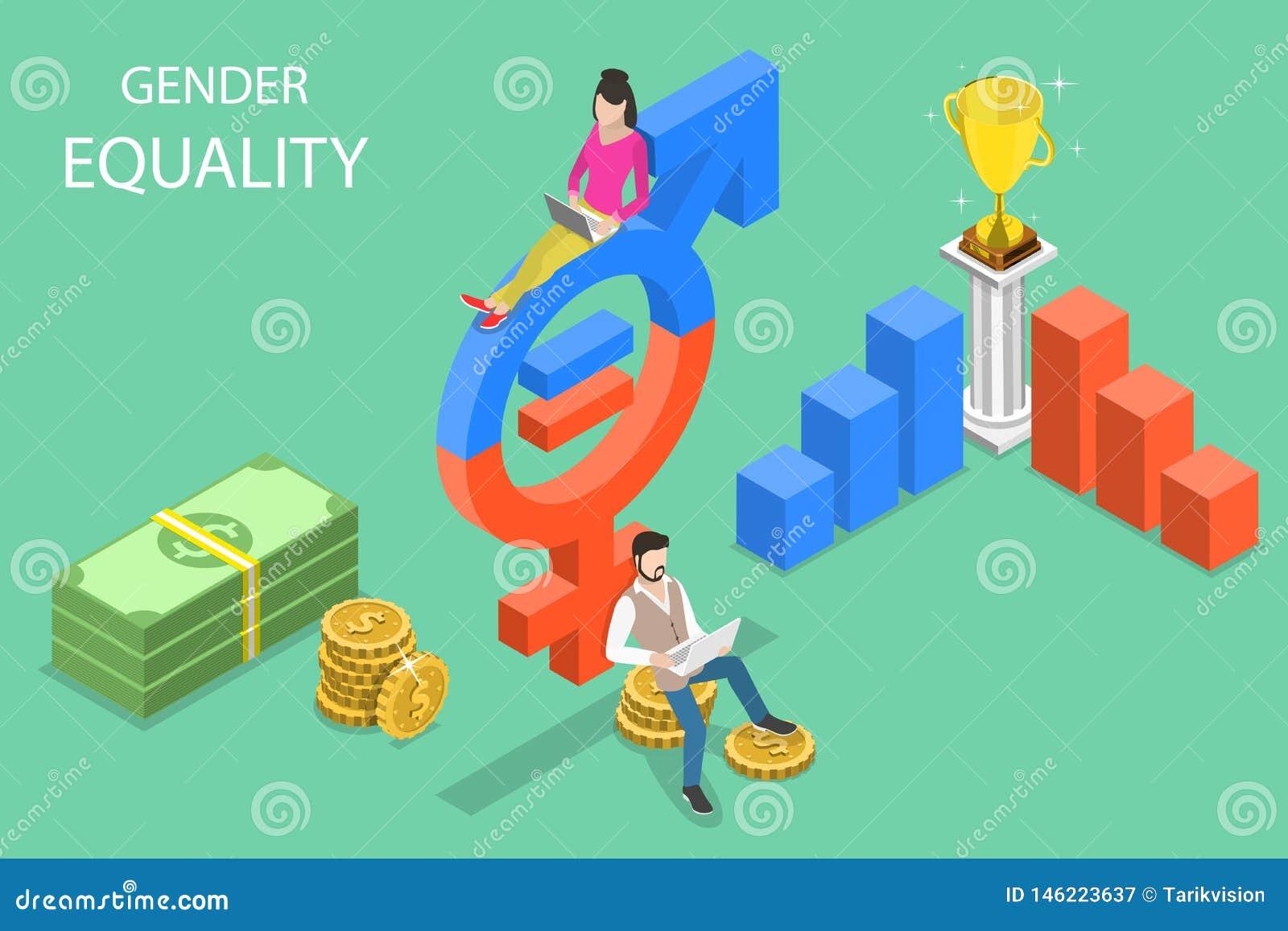 男女平等、男性和女性平等权利的等量平的传染媒介概念