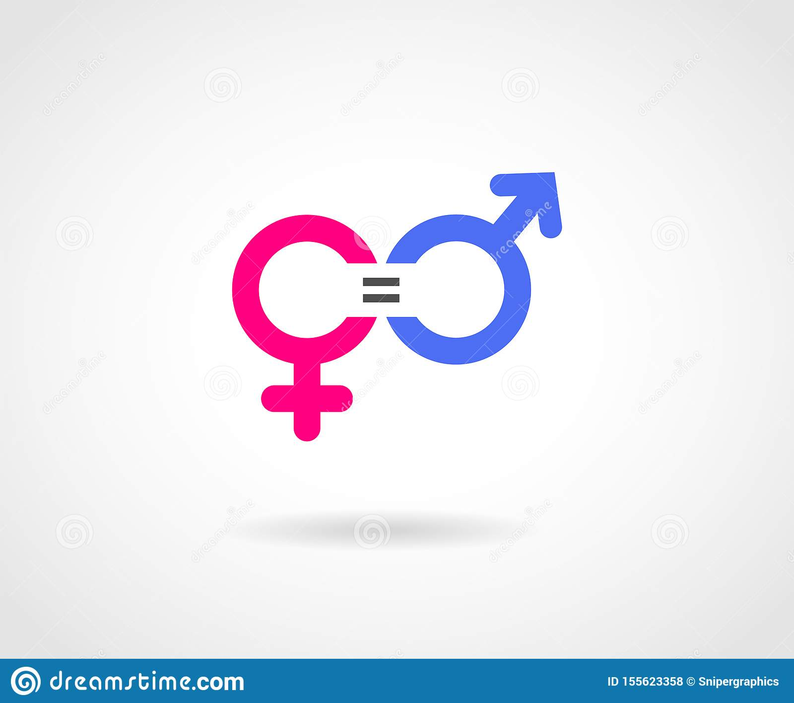 男女平等概念传染媒介象