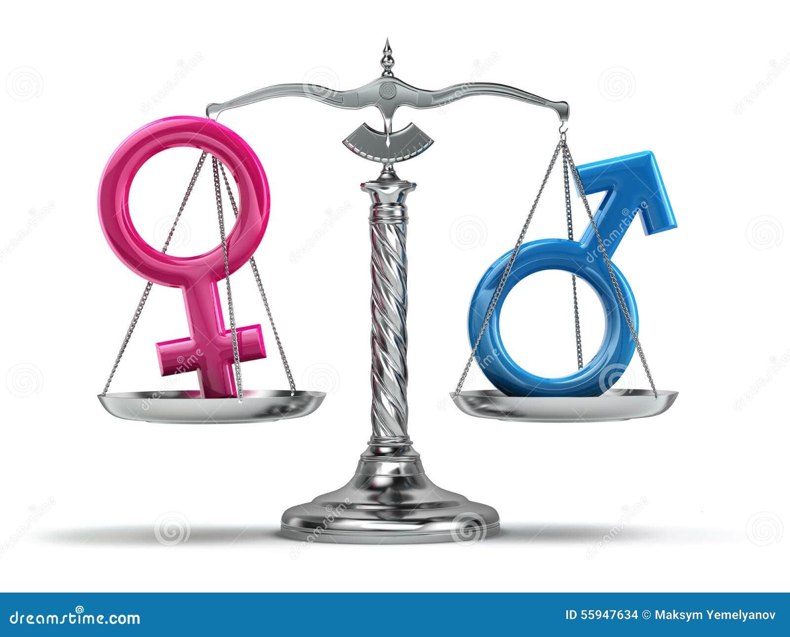 男女平等概念 在标度iso的男性和女性标志