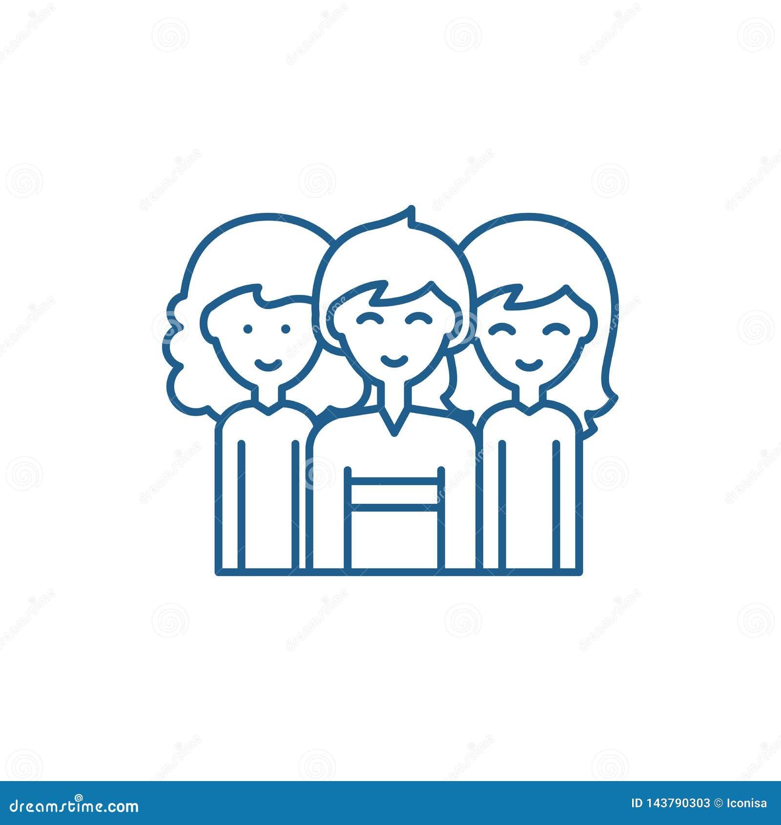 男女平等线象概念 男女平等平的传染媒介标志,标志,概述例证