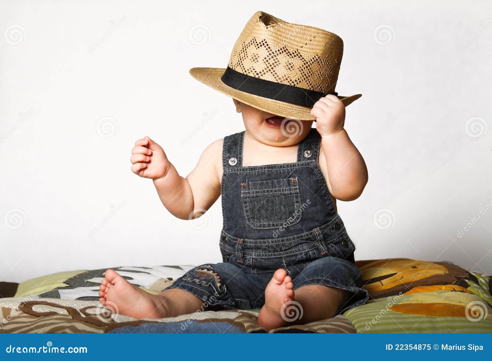 男孩帽子秸杆