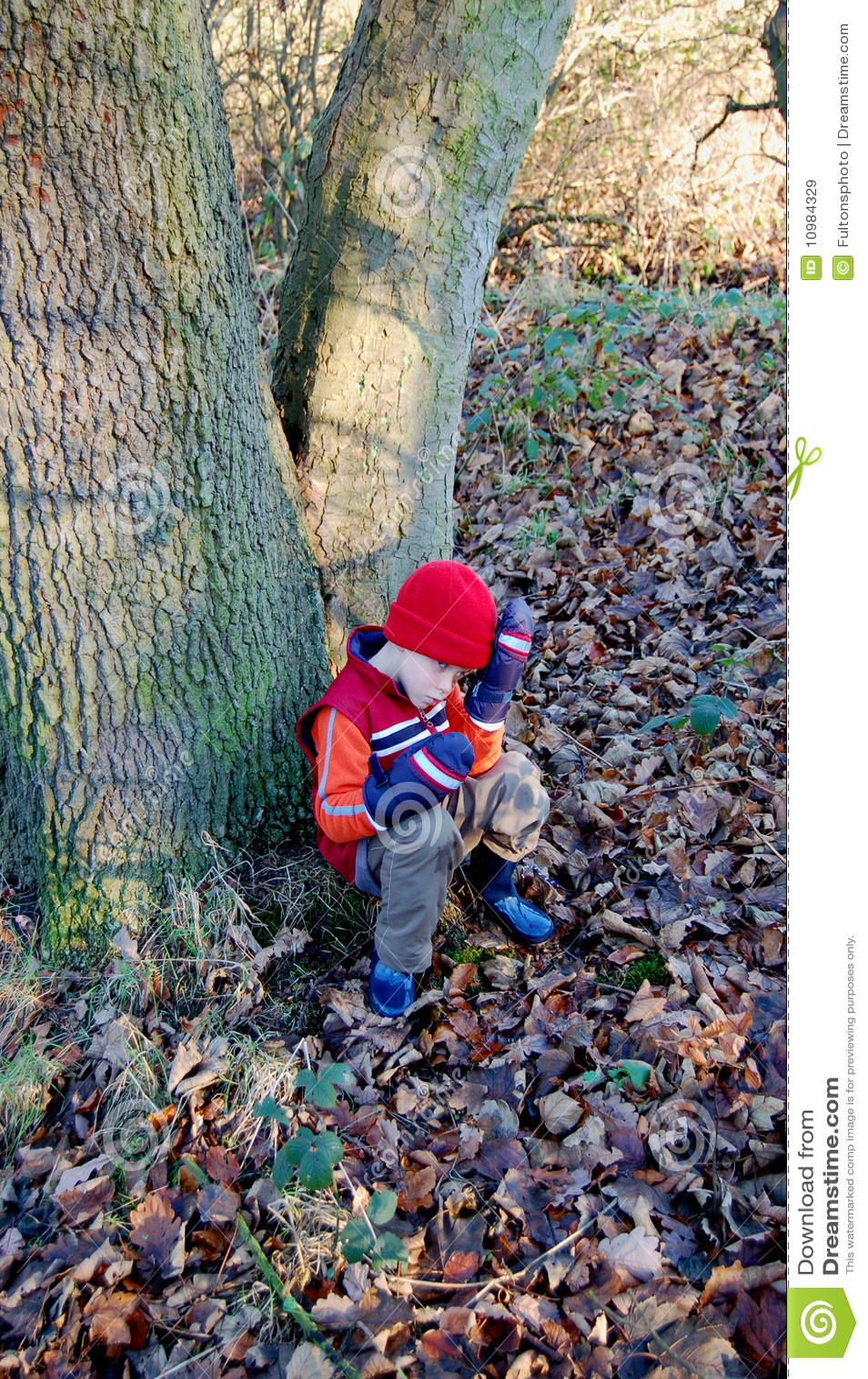 男孩森林疲倦的结构年轻人