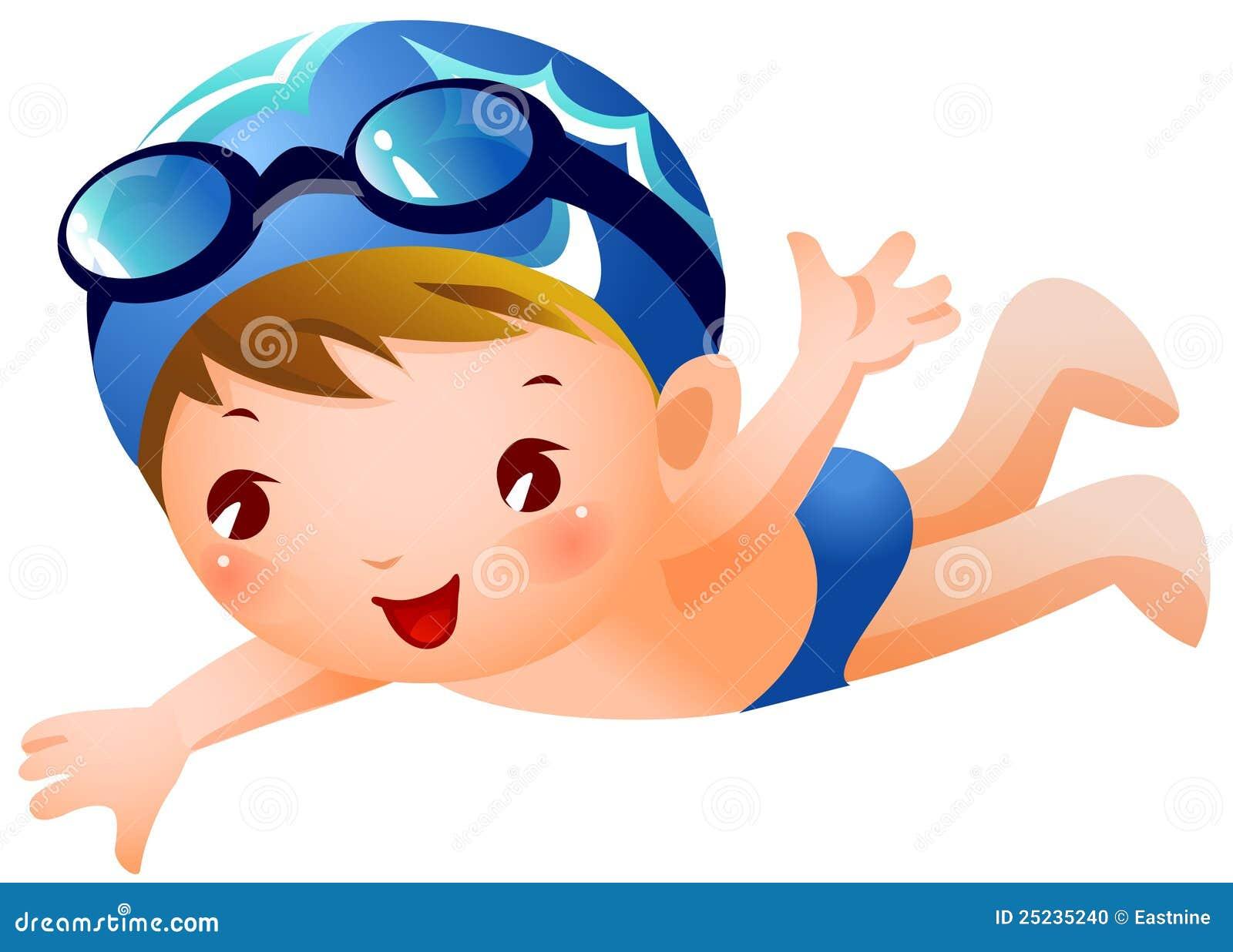 男孩游泳者 向量例证 插画 包括有 背包 女演员 Beauvoir 享受 附庸风雅 快乐 数字式
