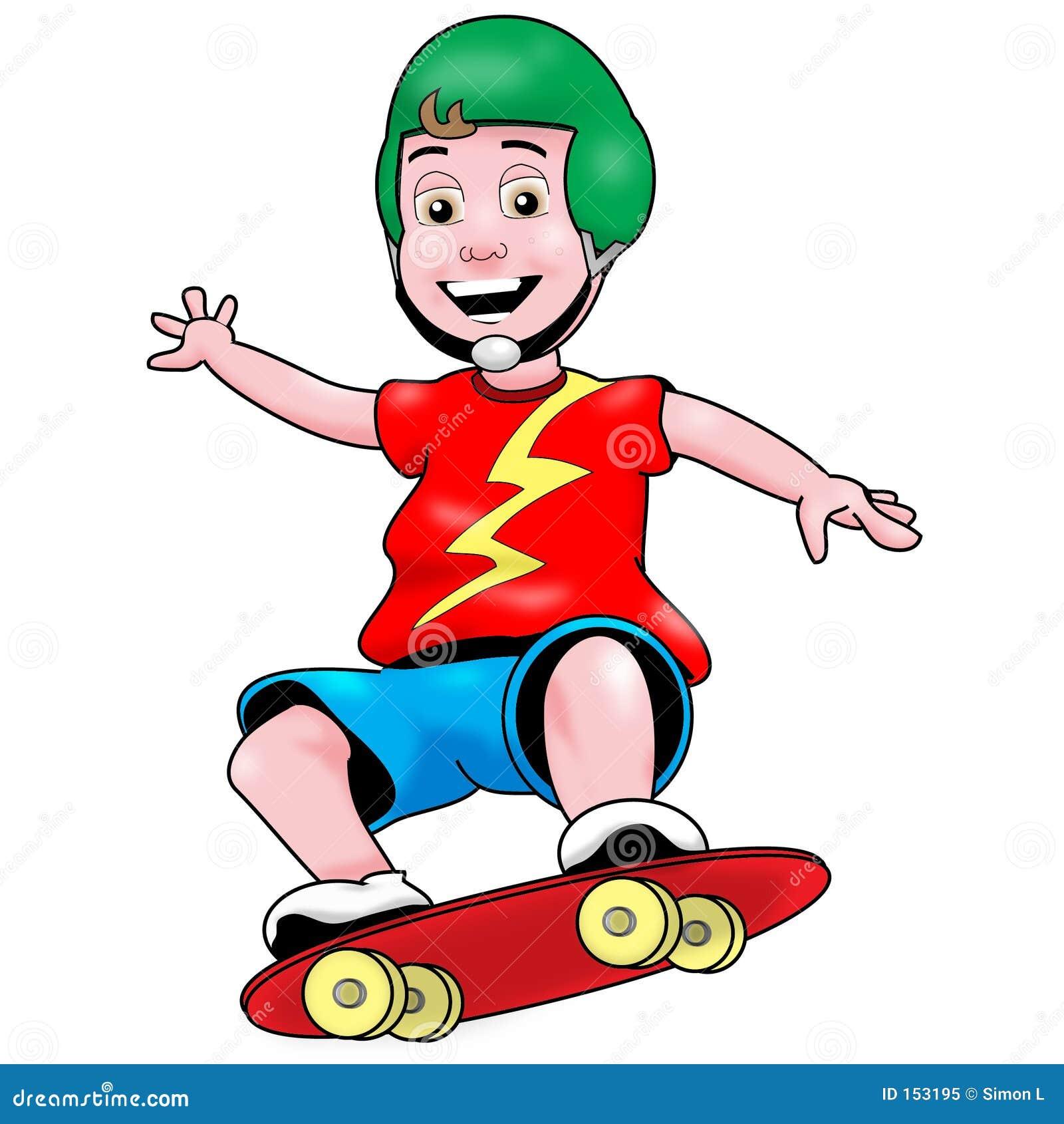 男孩溜冰者