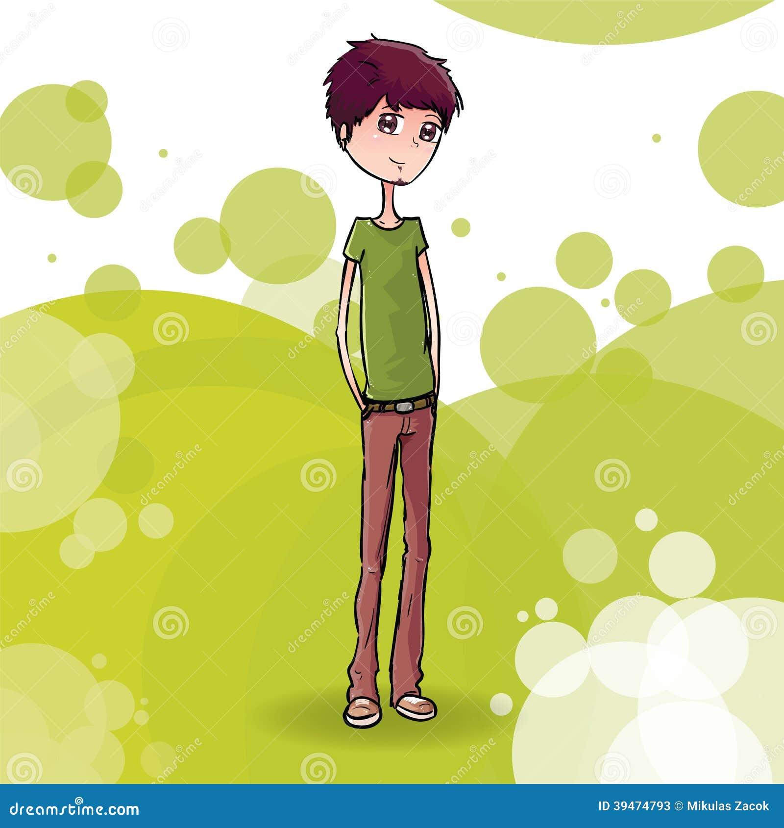青少年的男孩有抽象背景.图片