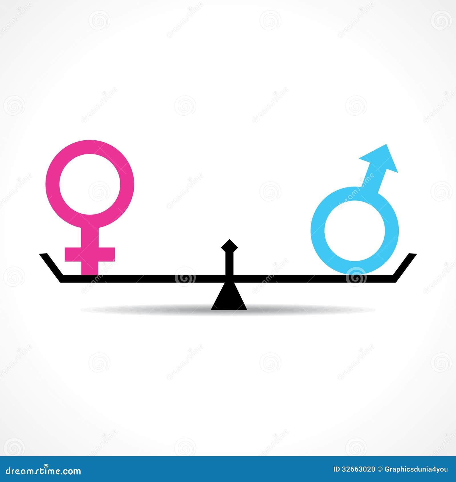 男性和女性平等概念