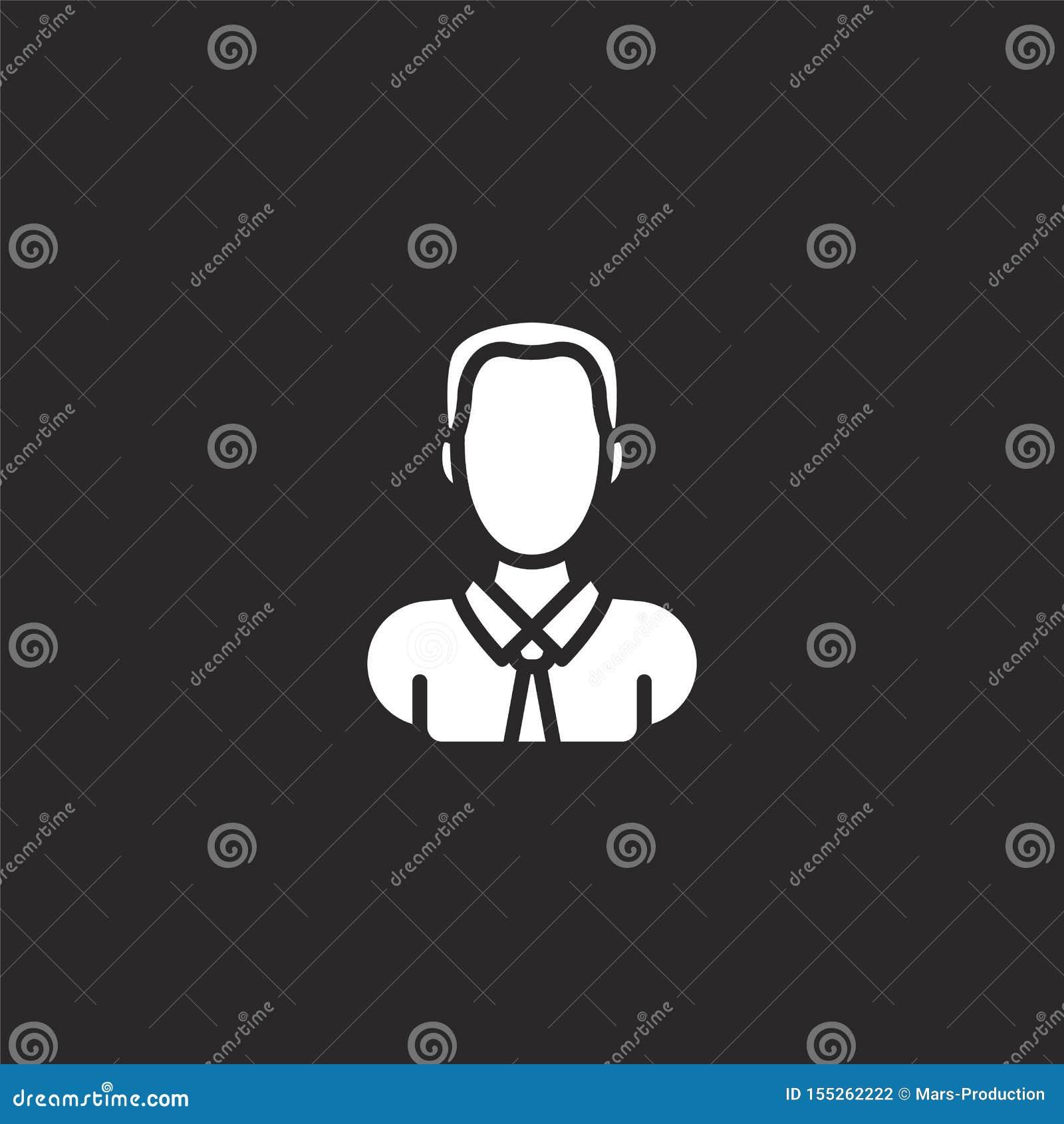 男性象 网站设计和机动性的,应用程序发展被填装的男性象 从被填装的外形占位符收藏的男性象