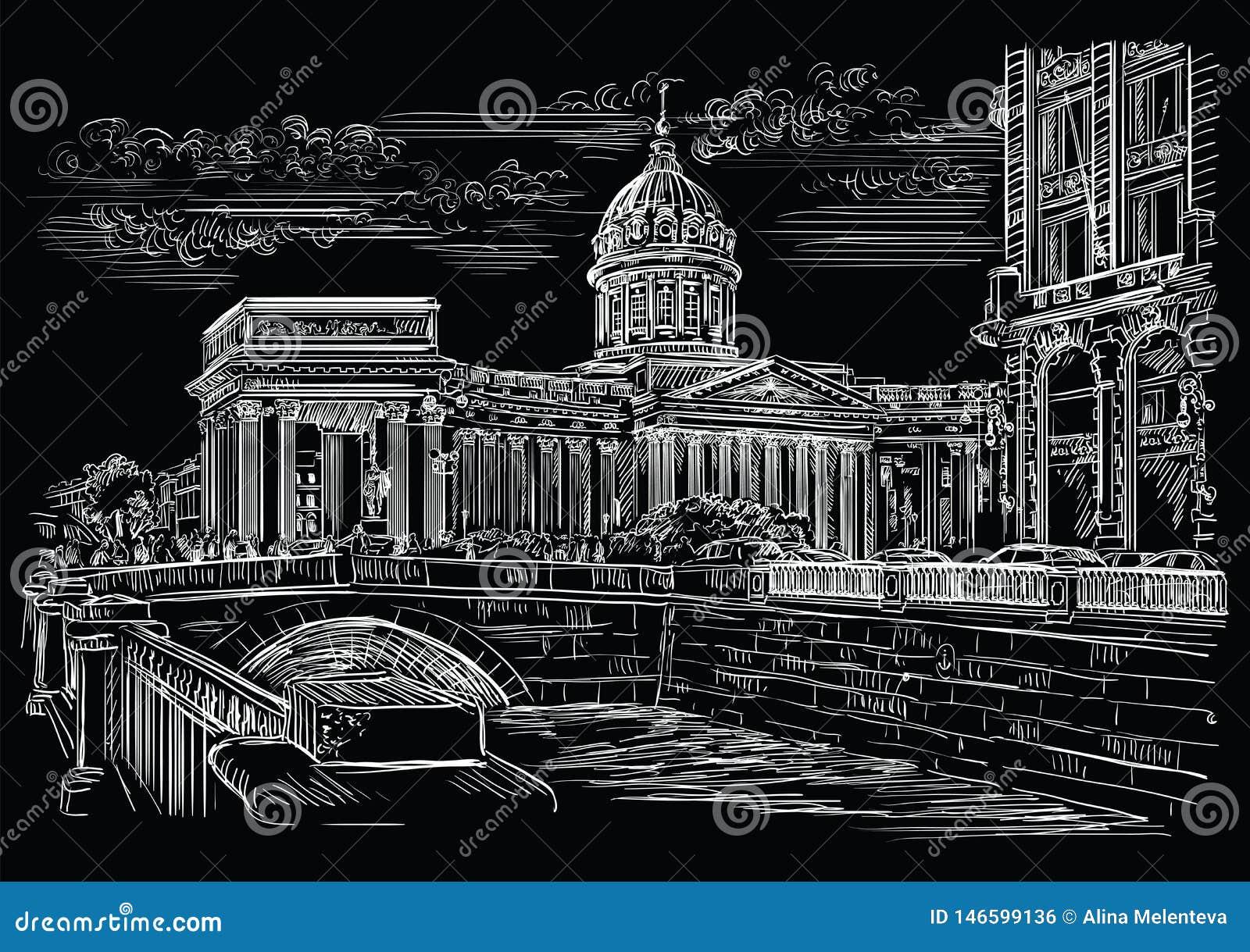 画圣彼德堡5的黑传染媒介手