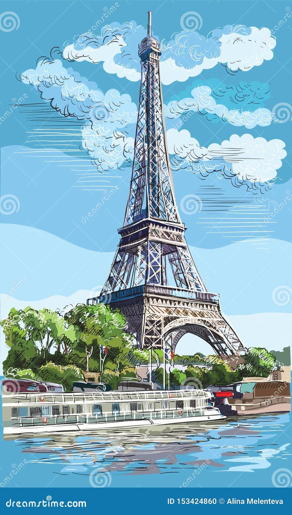 画巴黎1的五颜六色的传染媒介手