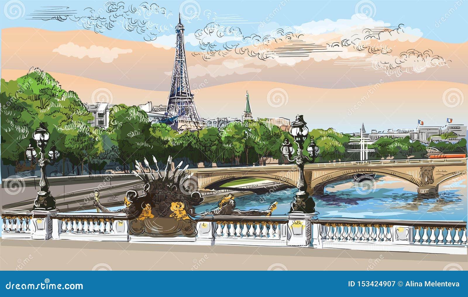 画巴黎8的五颜六色的传染媒介手