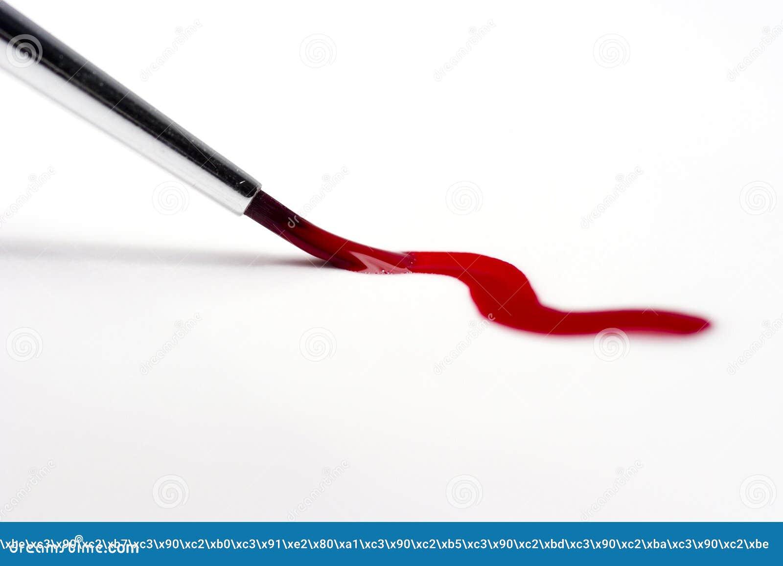 画笔曲线绘画红色