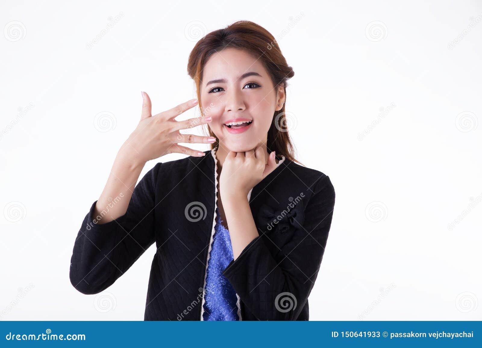 画象亚裔妇女