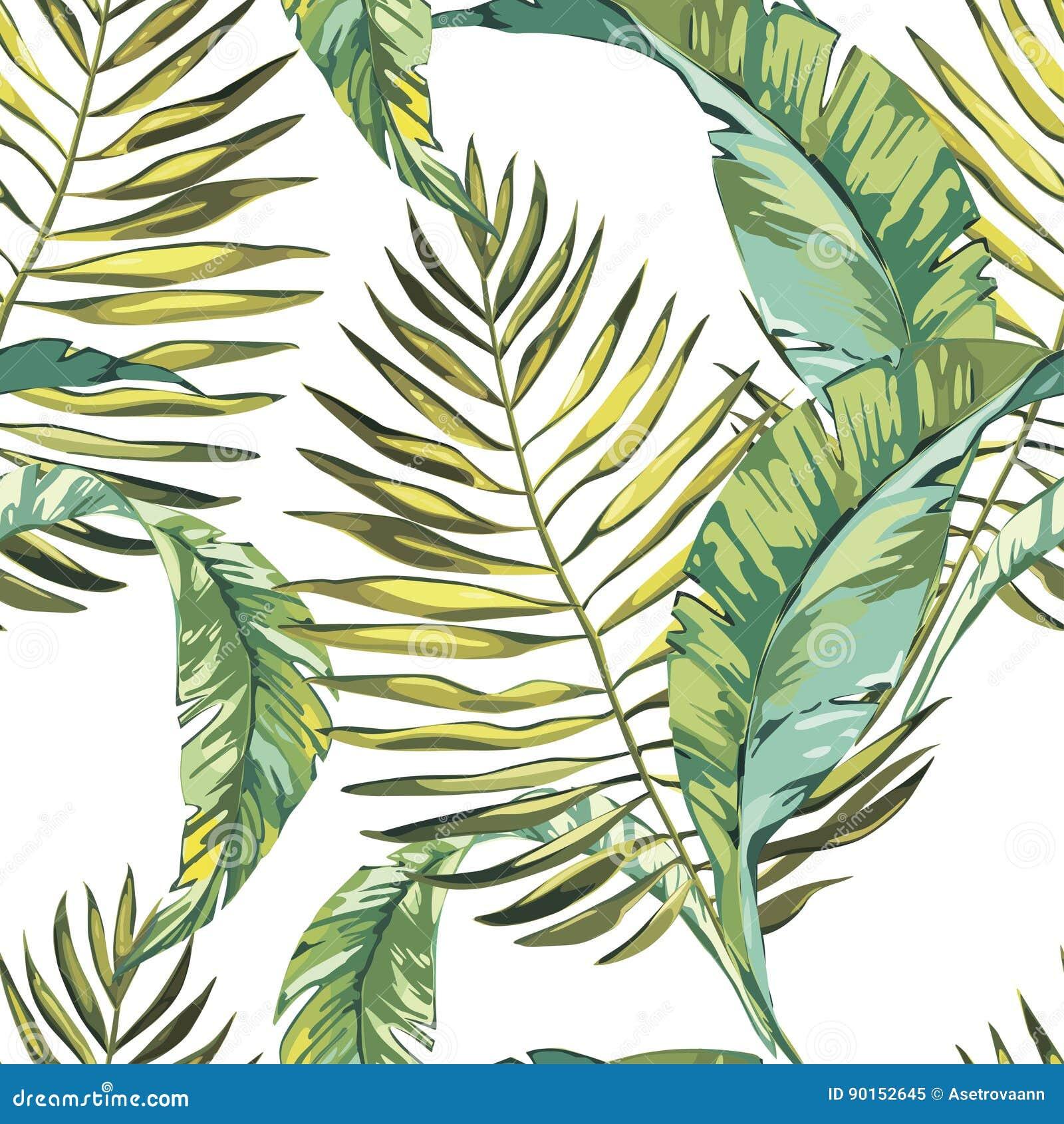 留给热带 美好的无缝的传染媒介花卉样式背景,异乎寻常的印刷品 10 eps