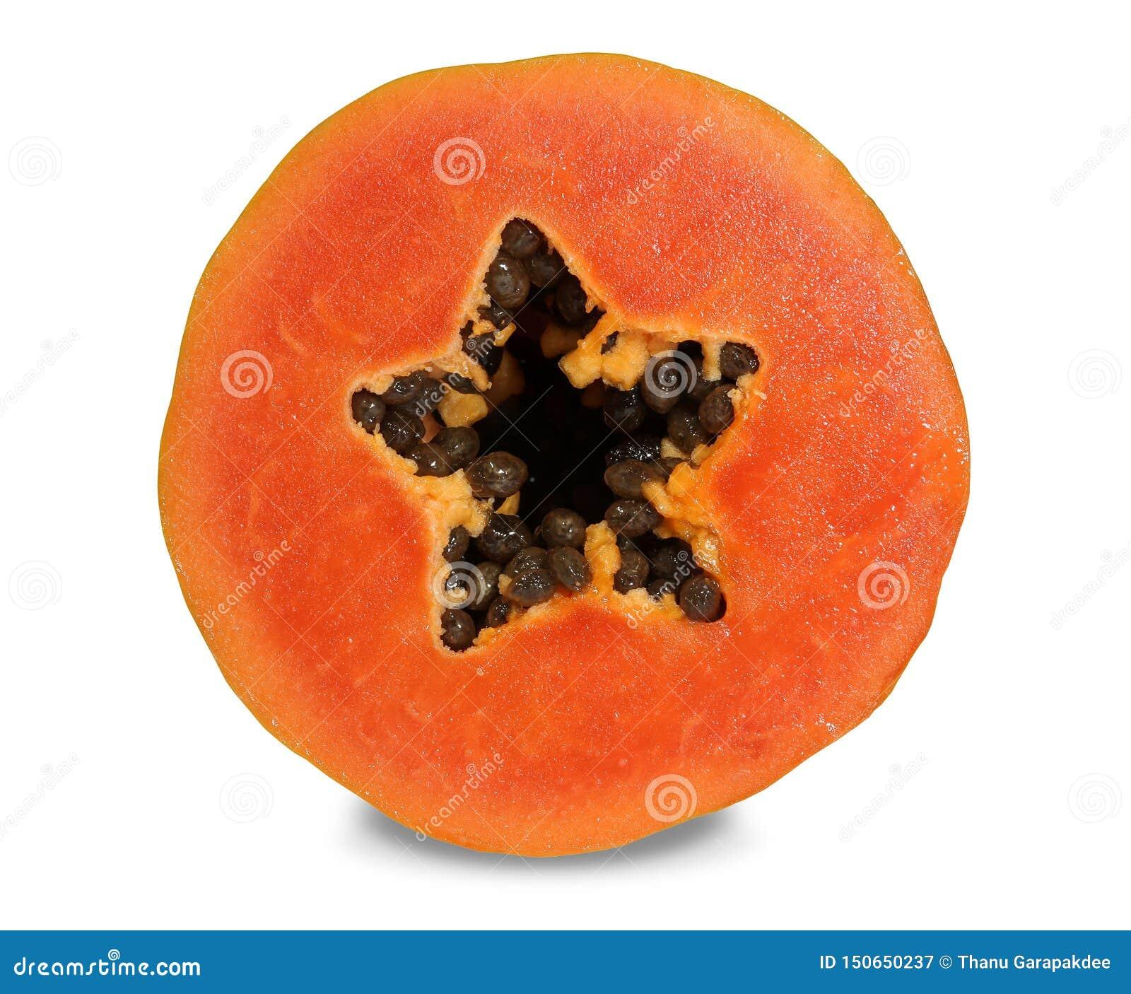 番木瓜有美丽的深橙红色骨肉
