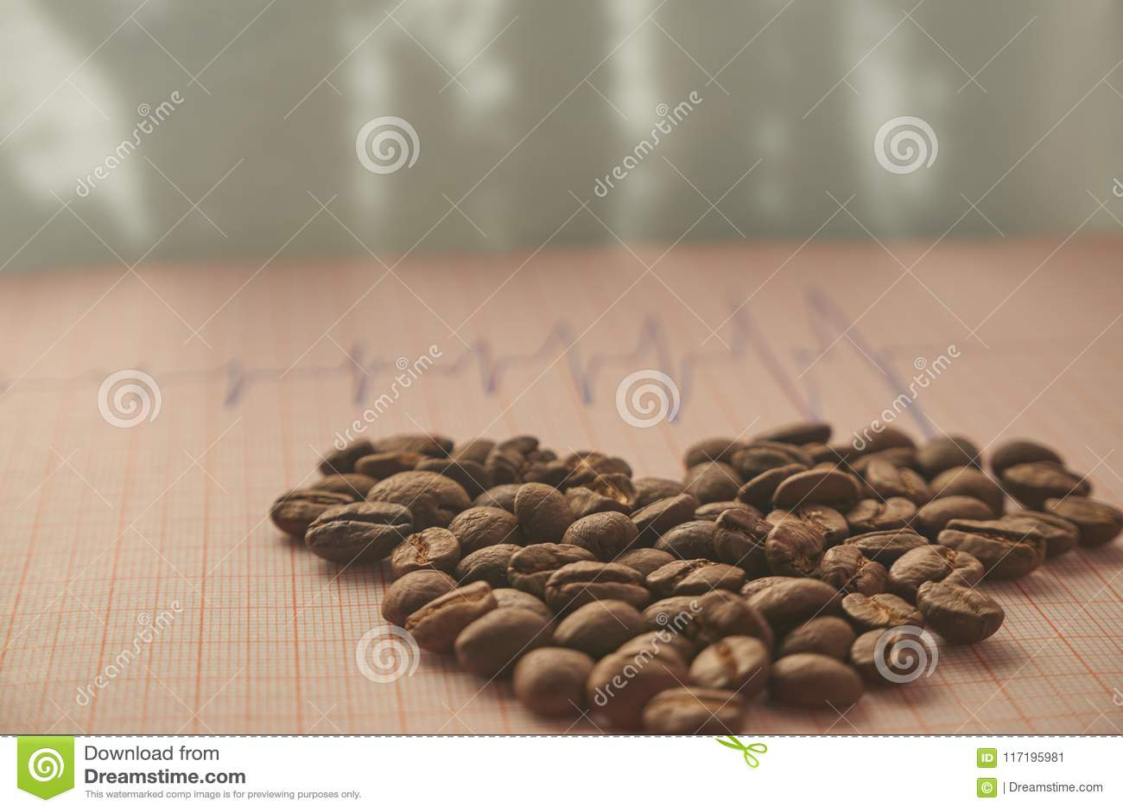 疏松在ECG辨别目标的烤咖啡豆