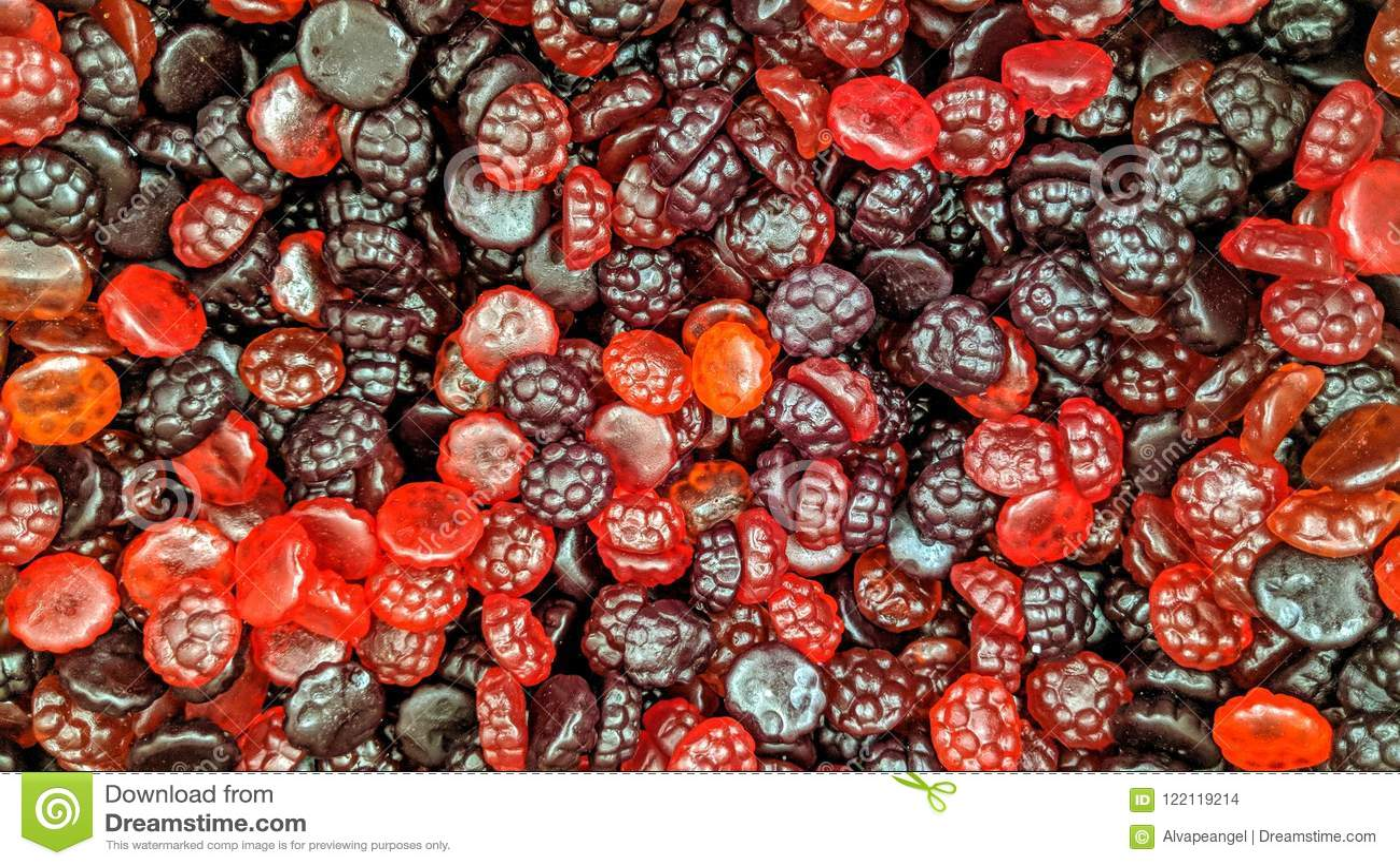 疏松色的糖果