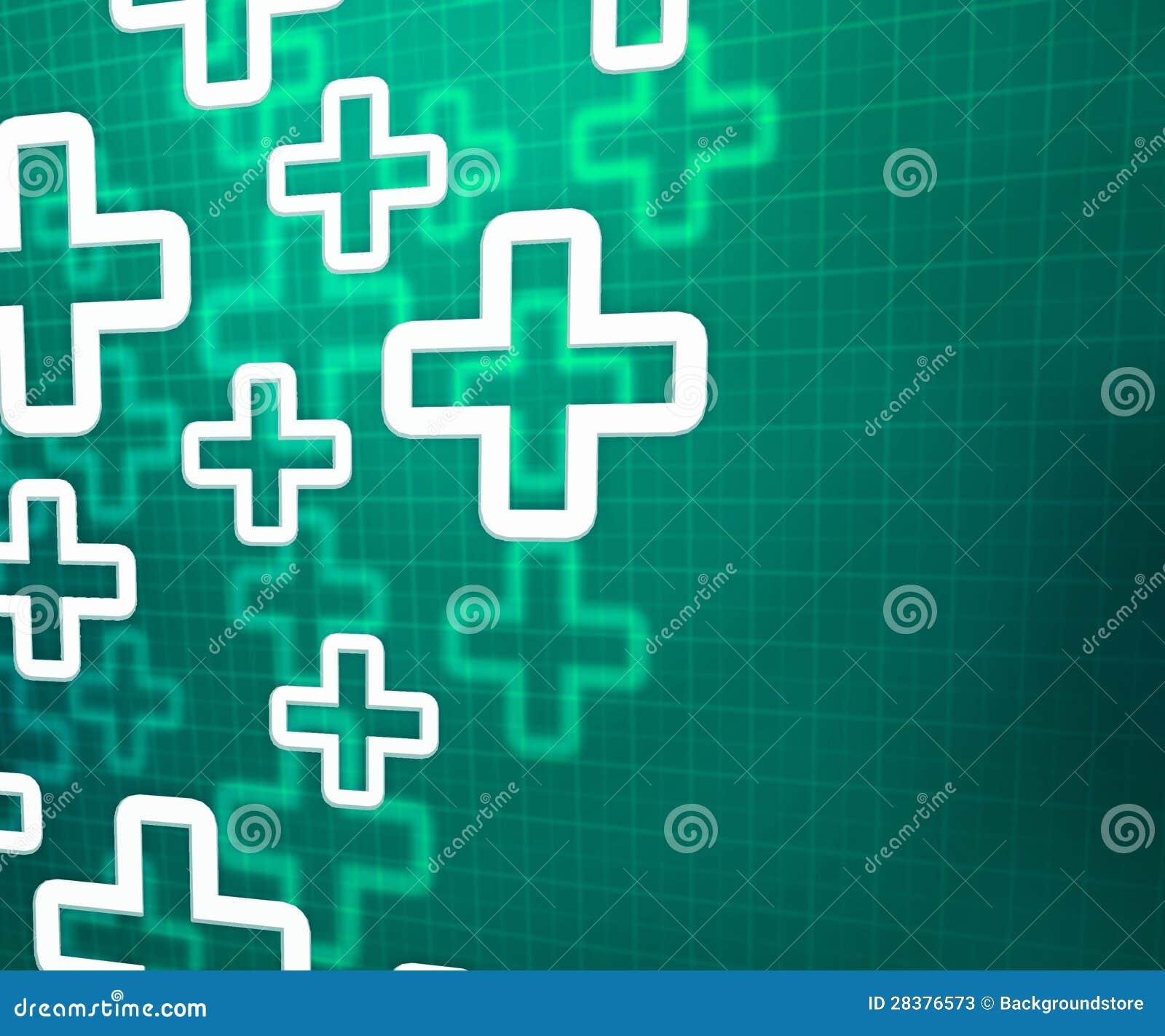 医疗发怒绿色背景