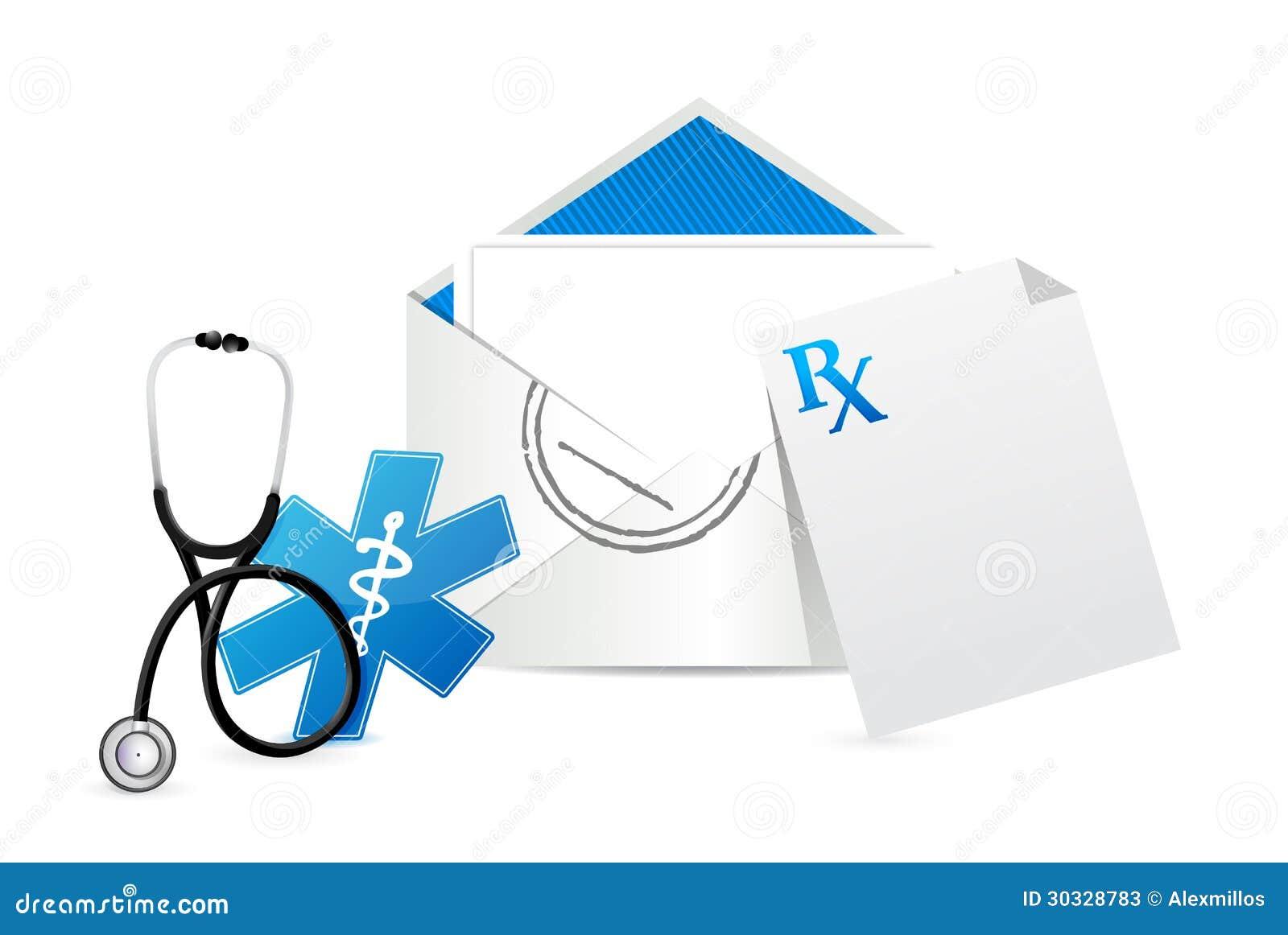 医疗处方信封信件