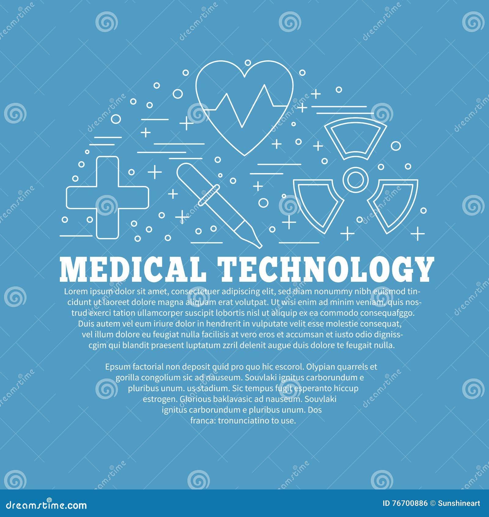 医疗诊断,核对图形设计概念