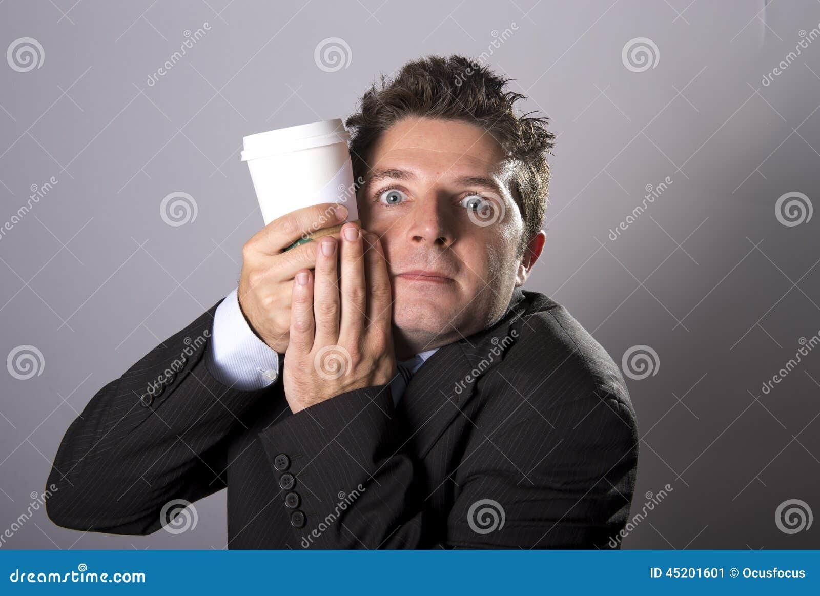 疯狂上瘾者商人藏品拿走在咖啡因瘾的咖啡
