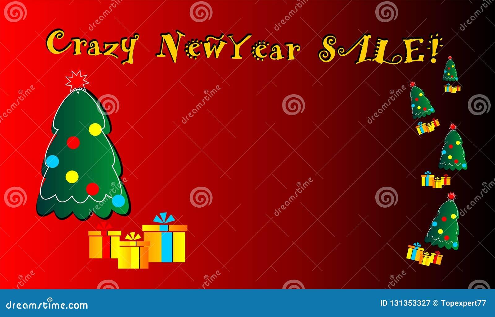 疯狂的新年销售,横幅,基础,梦想,新,为网,给的,待售,提议做广告,