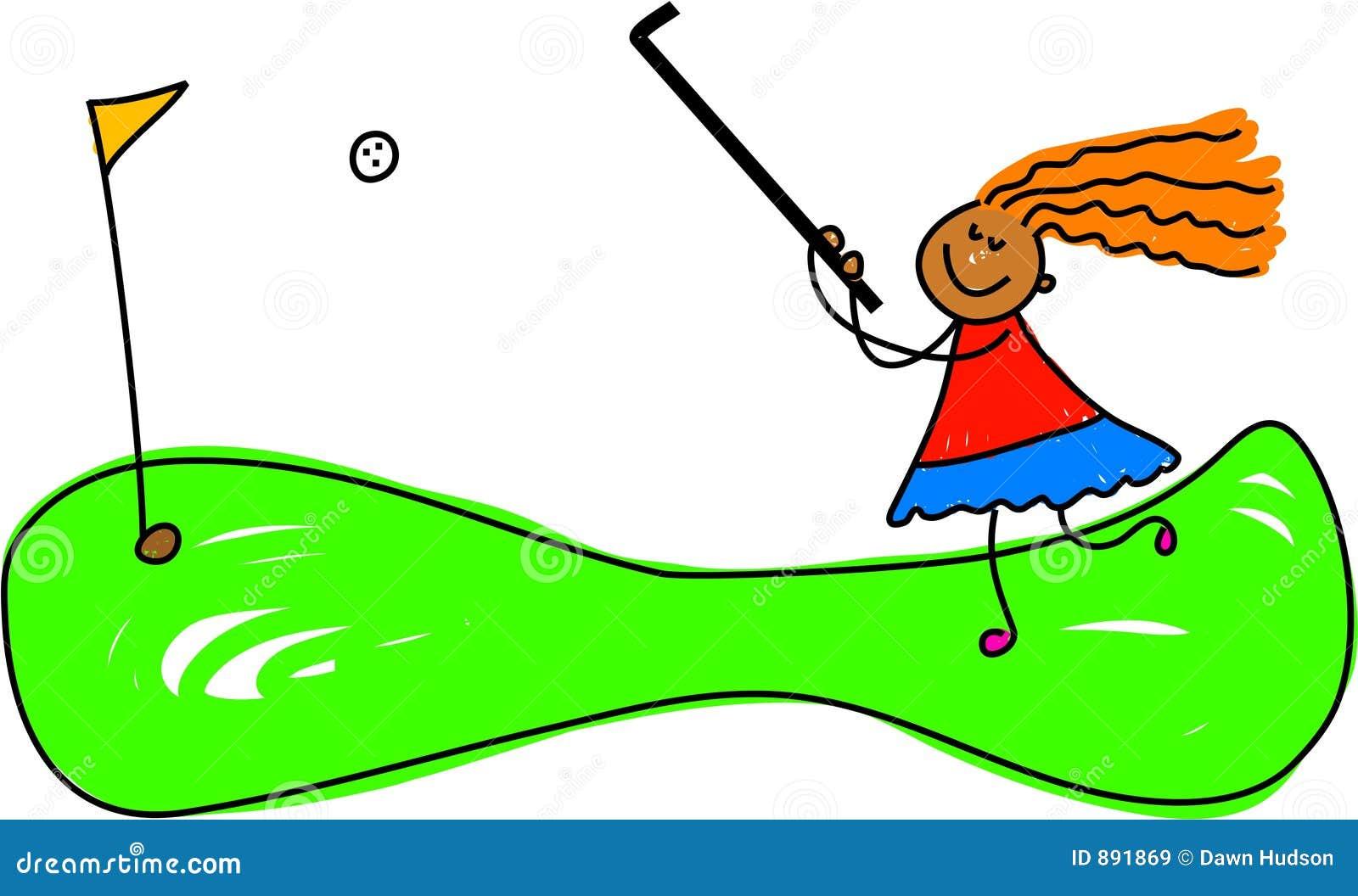 疯狂的高尔夫球孩子