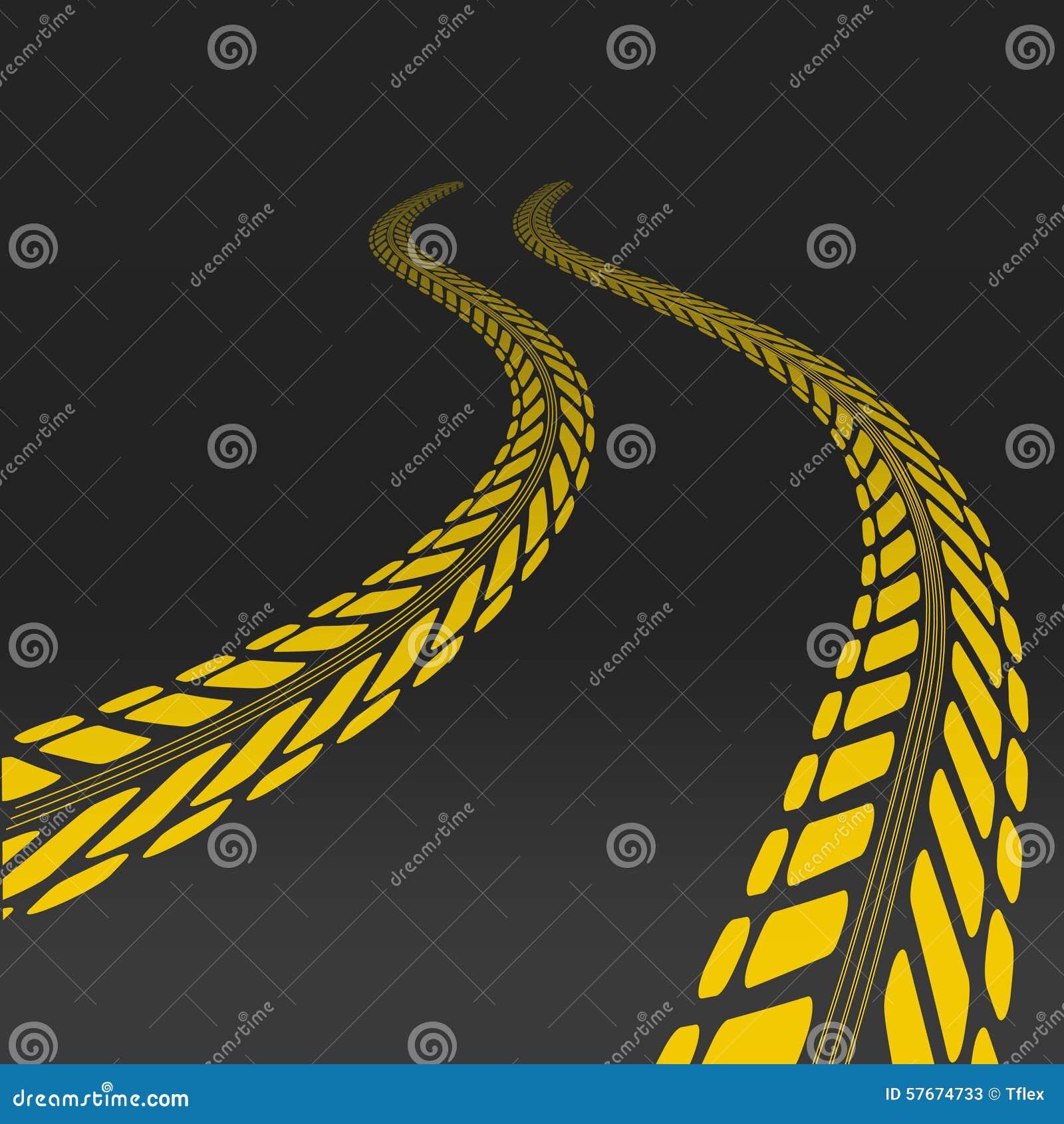 疲倦与透视的轮胎的轨道和模板
