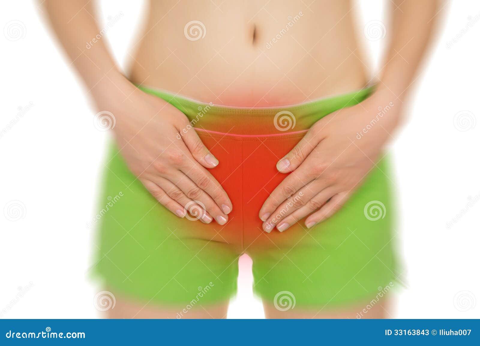 疼痛子宫,显示红色,保持被递