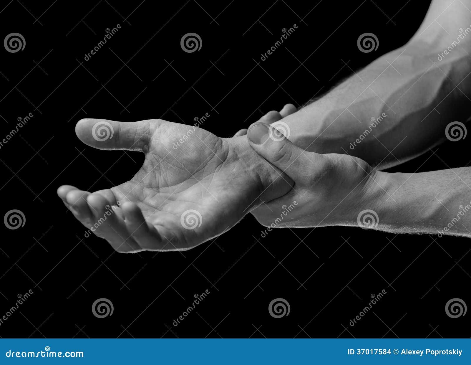 痛苦在腕子区域