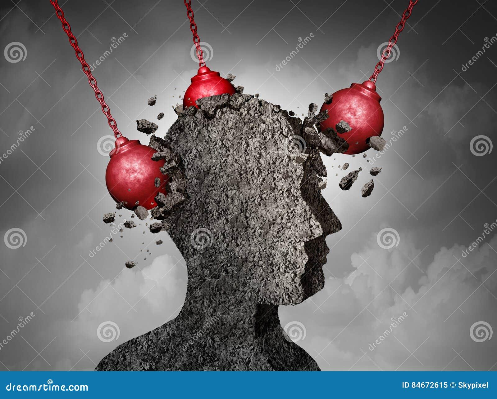 痛苦的头疼概念