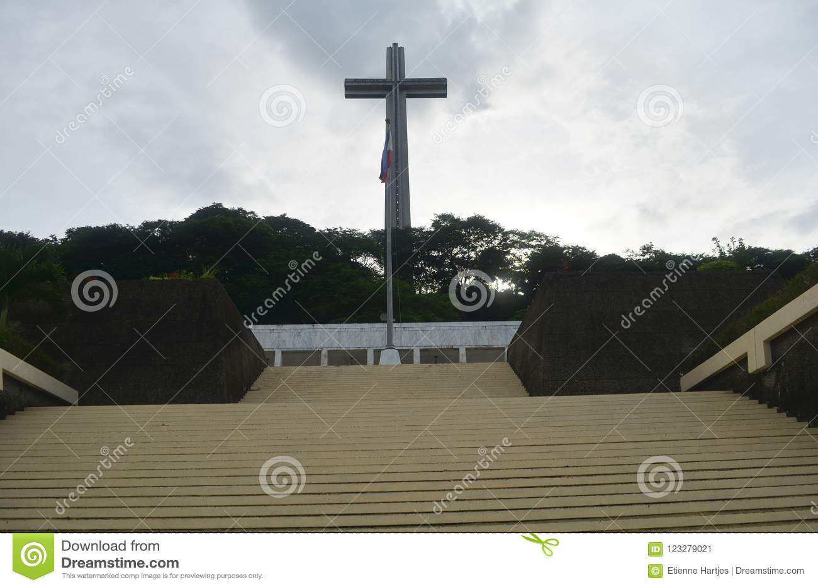 登上Samat全国寺庙 巴丹省菲律宾