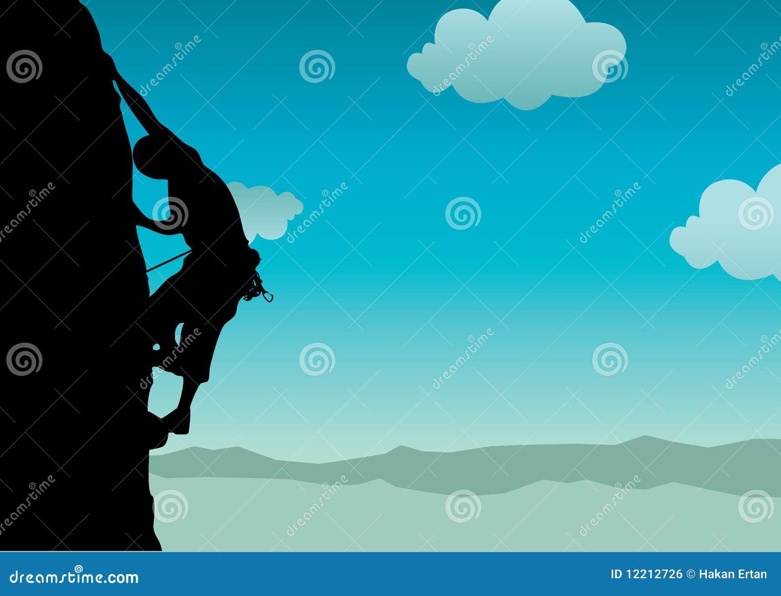 登山人向量