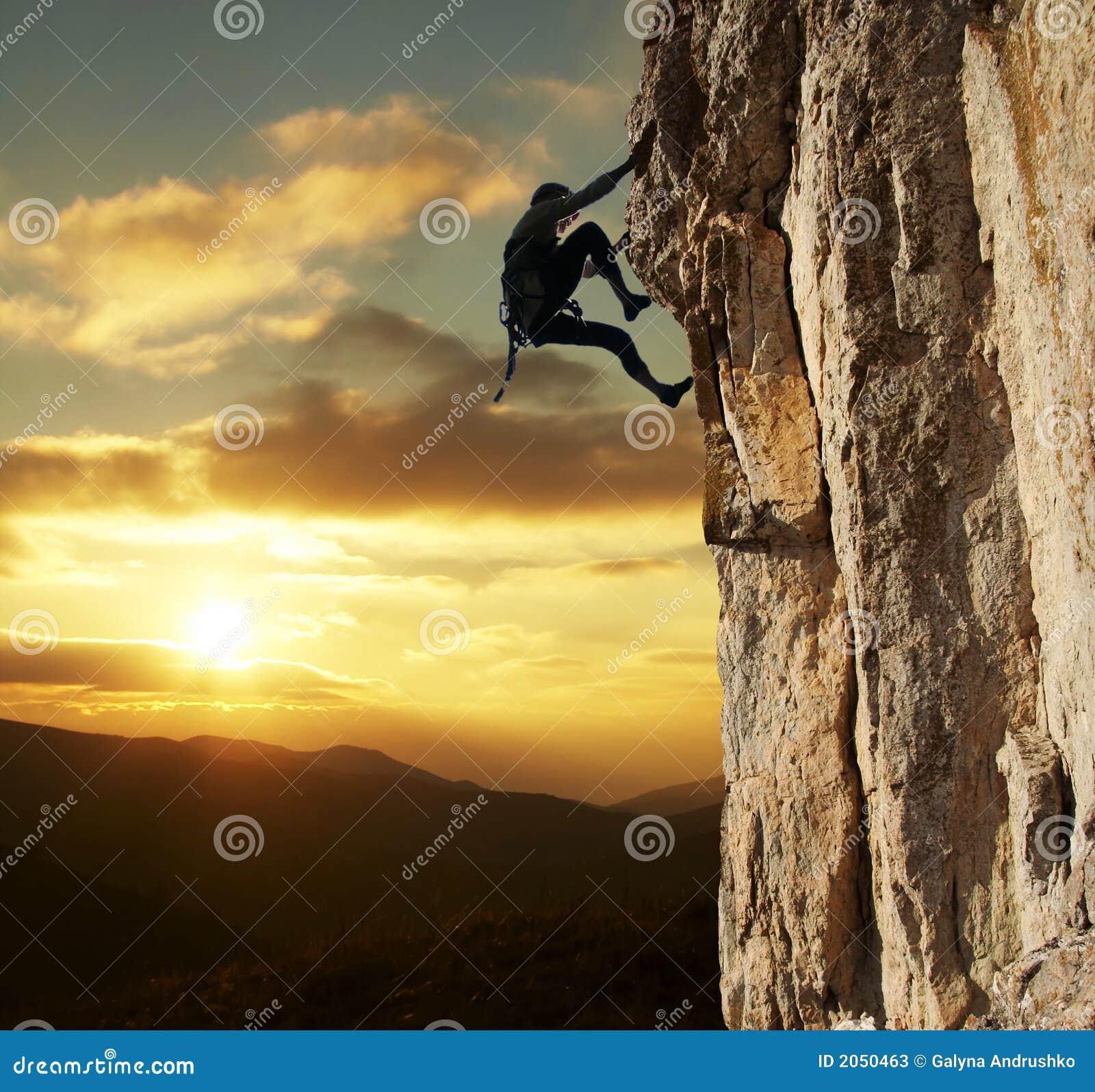 登山人日落