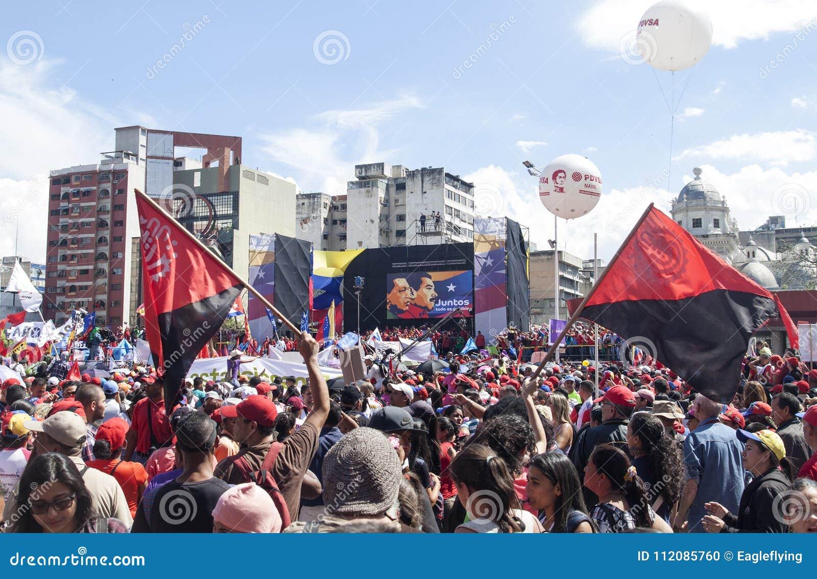 登记作为总统选举的候选人的尼古拉斯・马杜罗在委内瑞拉