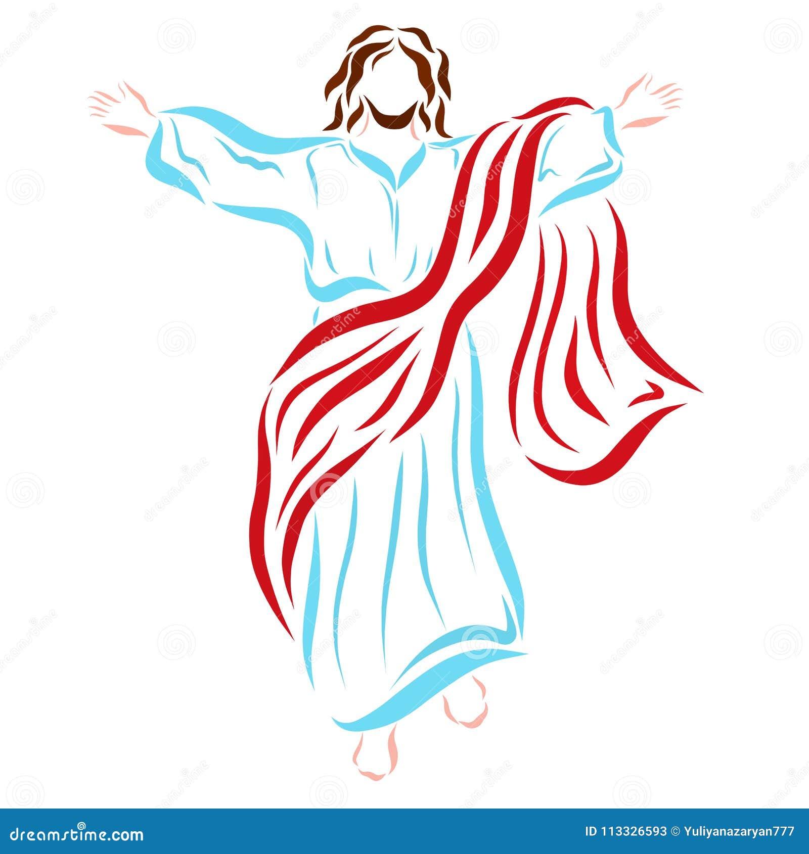 登高对天堂的复兴的耶稣基督