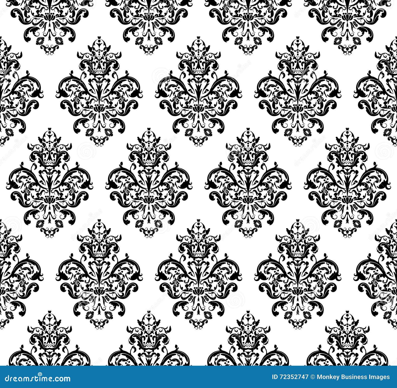 黑白无缝的重复的传染媒介样式