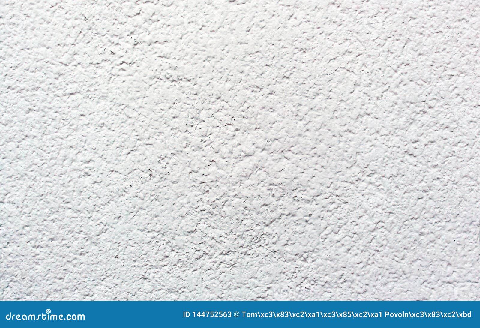 白水泥老墙壁纹理涂灰泥的灰泥