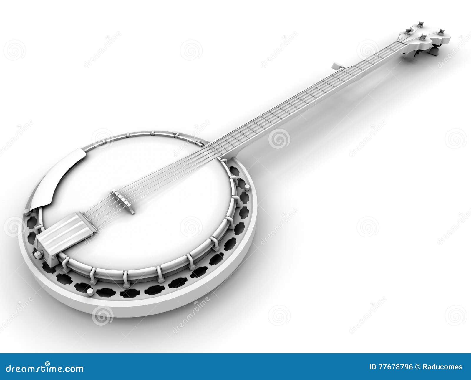 黑白班卓琵琶乐器