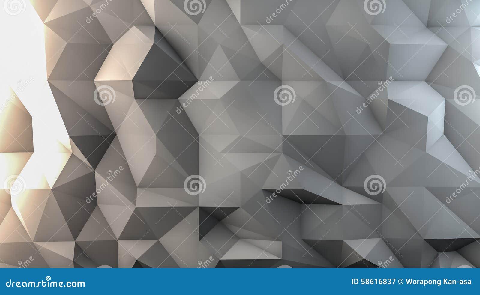 白色多角形背景