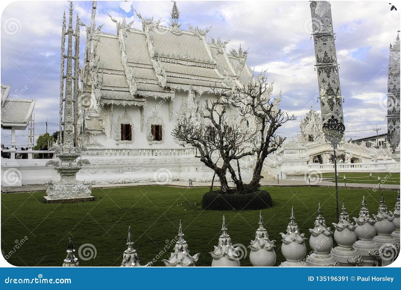 白色寺庙在清莱,泰国