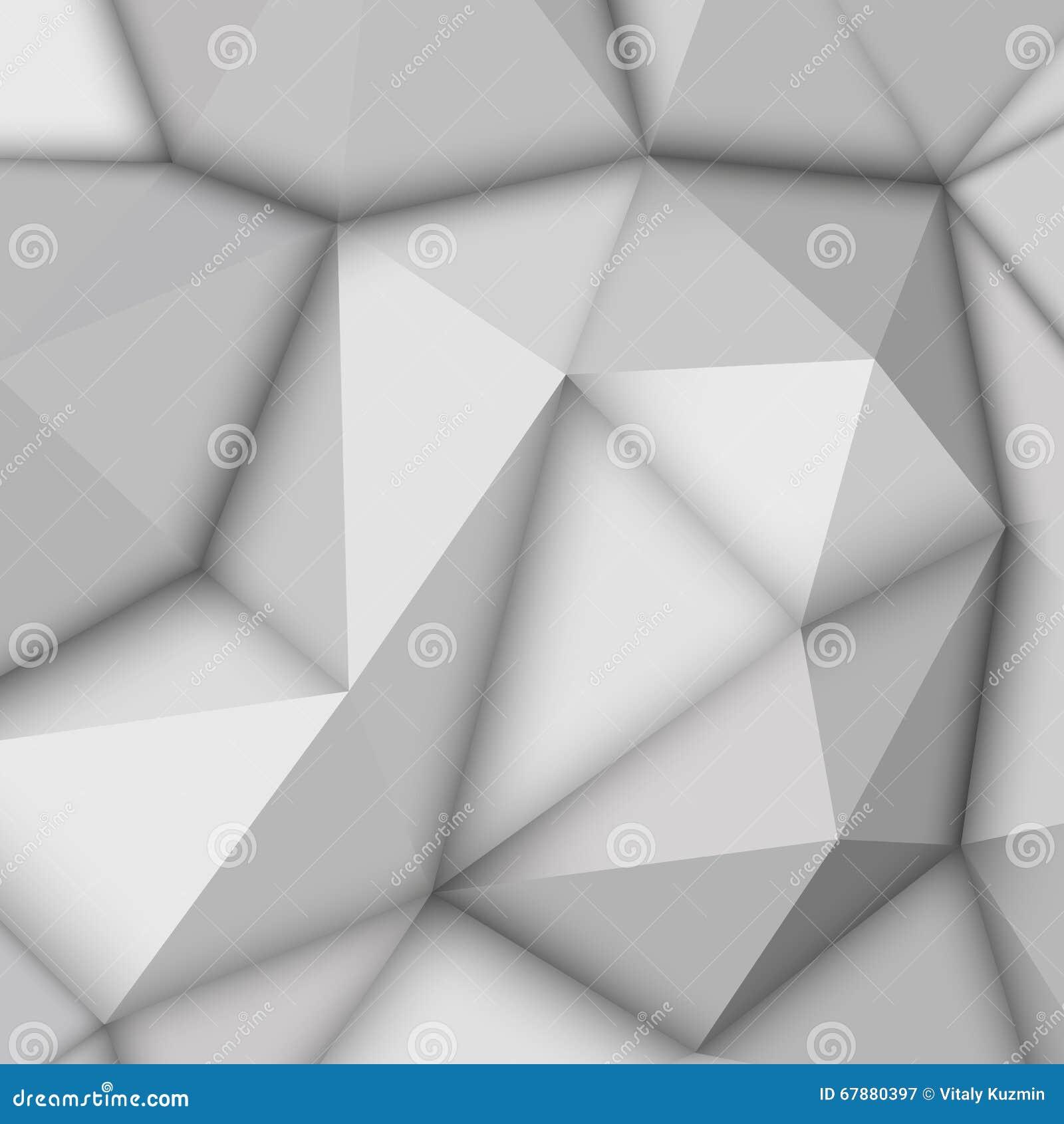 白色抽象多角形背景