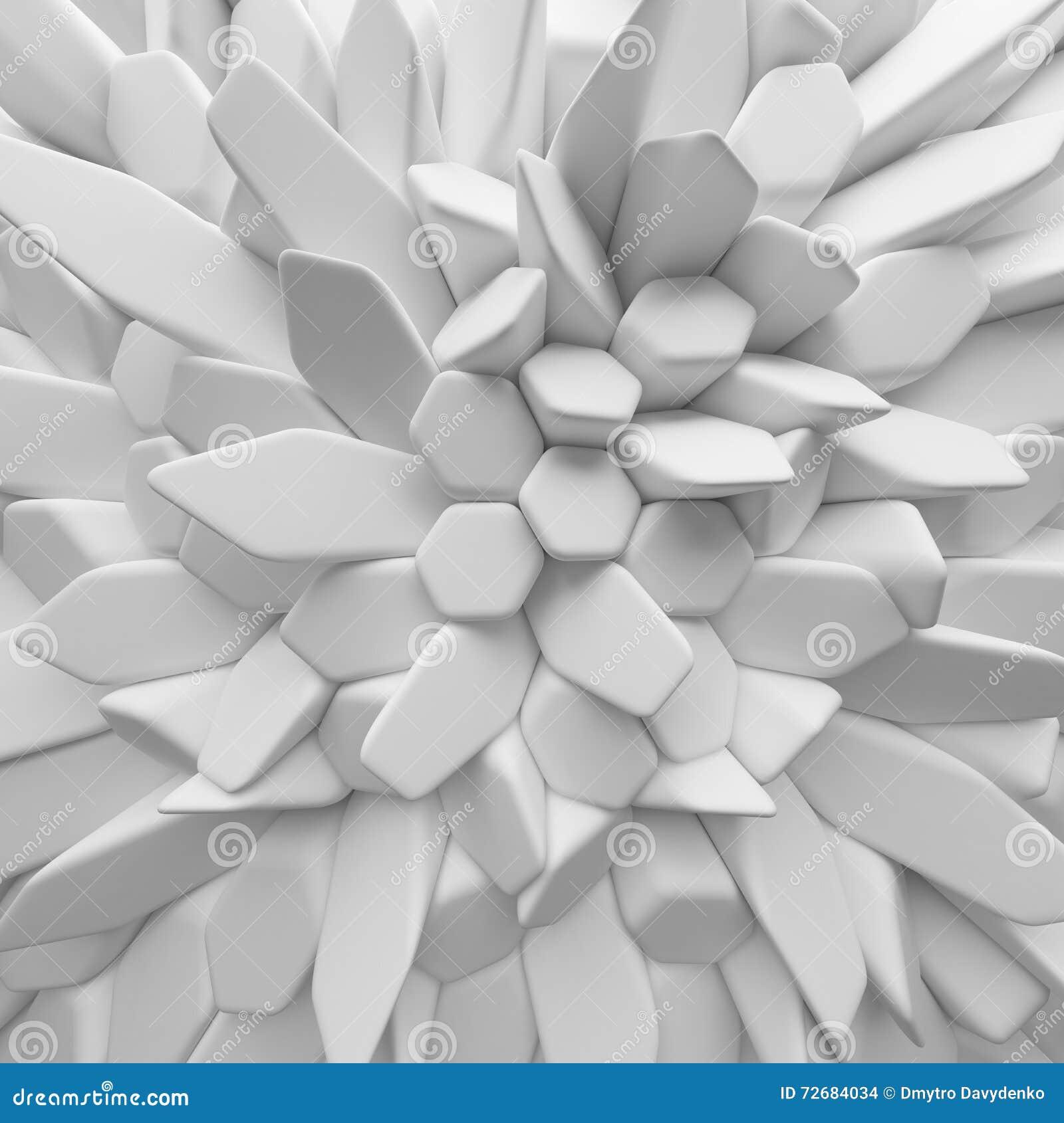白色摘要摆正背景 回报几何多角形的3d