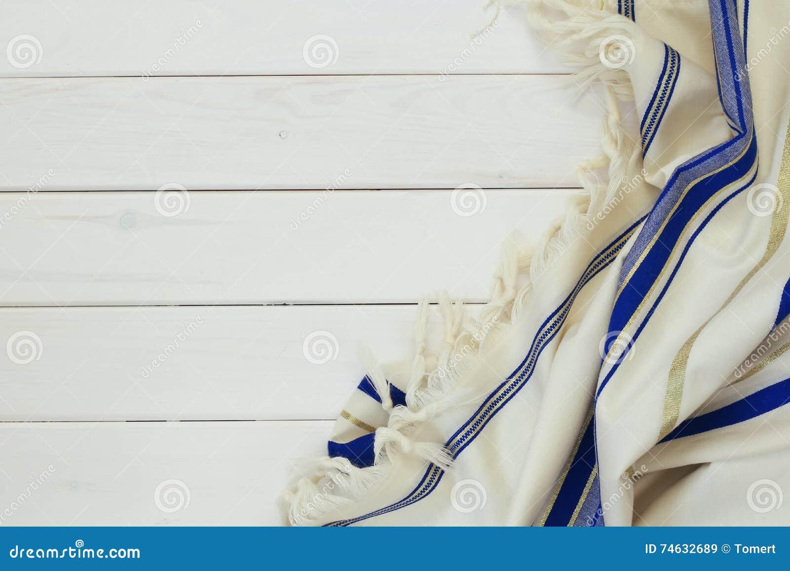 白色晨祷披巾- Tallit,犹太宗教标志