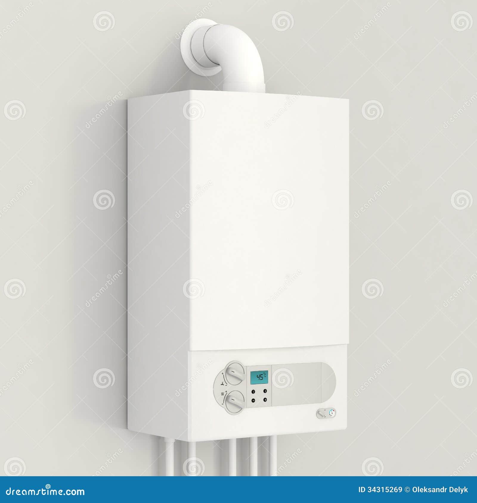 白色燃气锅炉。