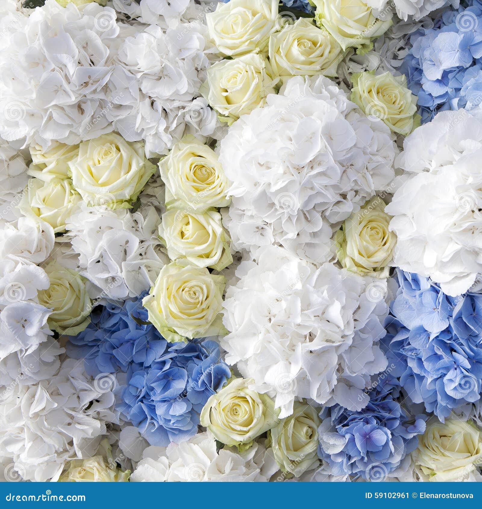 白色玫瑰美丽和精美花束